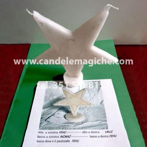 candela baphomet a forma di stella di ringraziamento per rituali luciferiani