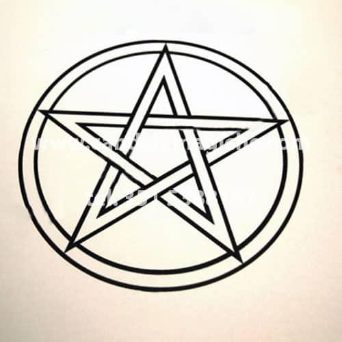 tovaglietta rituale con pentacolo per magia bianca