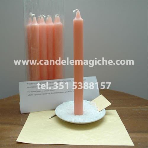 set di candele rosa per rituale novena degli arcangeli supremi