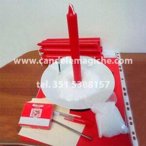 set di candele rosse per recitare la novena di marte