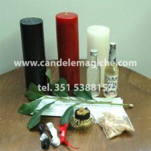 kit accessori per svolgere il rito africano della porta