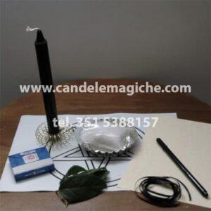 kit di accessori per svolgere il rito per allontanare una persona negativa