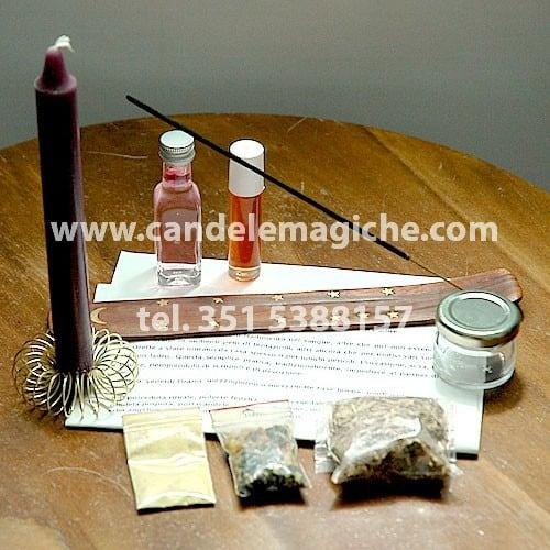 kit di accessori per svolgere il rito dell'anima sola per impedire il tradimento