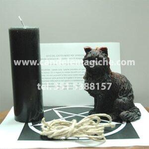 candela a forma di gatto per svolgere il rito del gatto nero