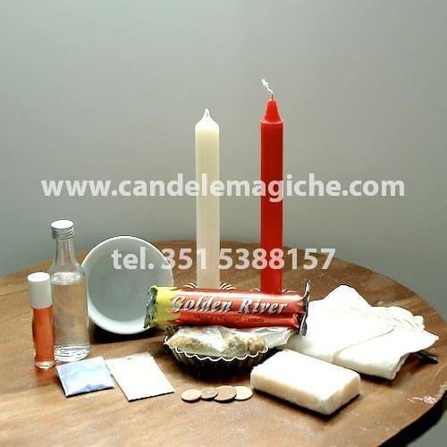 kit candele e accessori per il rito di san lazzaro