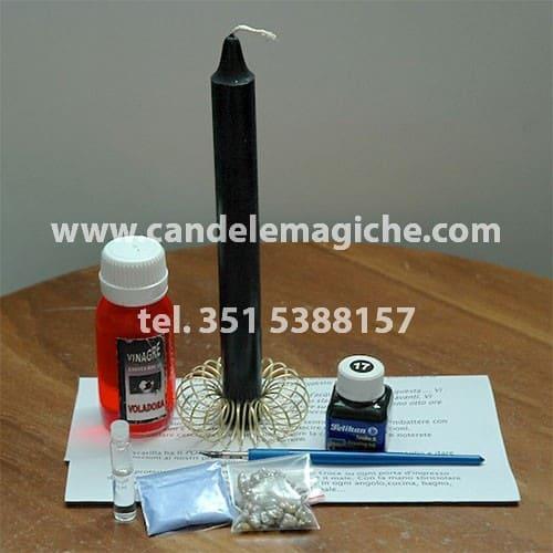 candela nera ed essenza per il rito della voladora