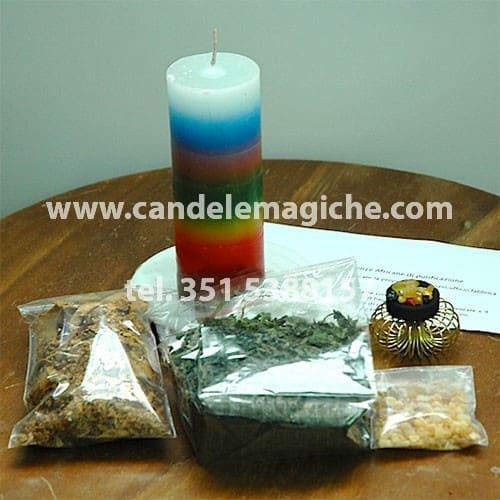cero sette colori ed erbe per il rituale alle sette potenze africane