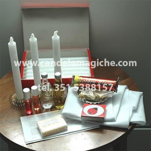 set di accessori e materiale occorrente per recitare la triplice novena anime sole