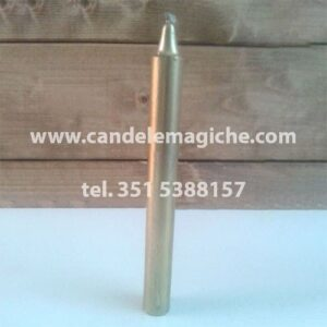 candela cilindrica colore oro
