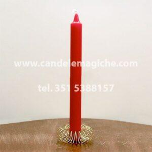 candela cilindrica di colore rosso