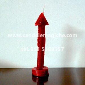 candela a forma di freccia saetta