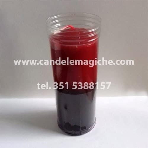 candela sete dias bicolore rossa e nera