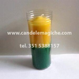 candela sete dias verde e gialla