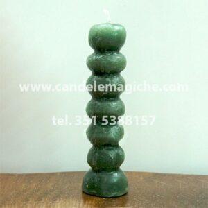candela dai sette nodi verde