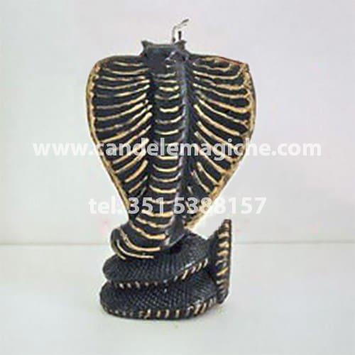 candela a forma di cobra di colore nero