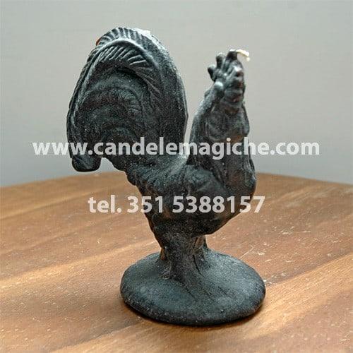 candela a forma di gallina nera