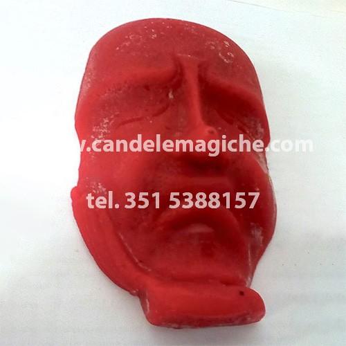 candela del pensiero di colore rosso