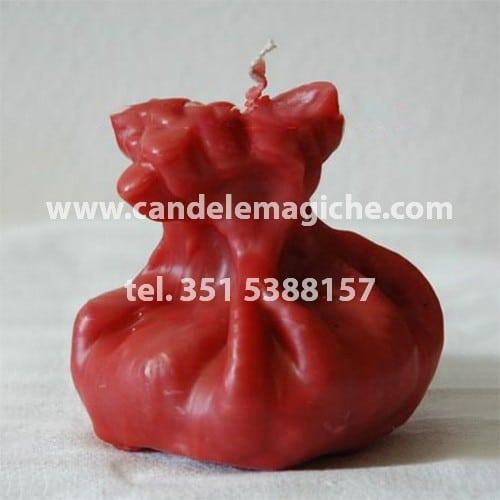 candela figurata del sacco della fortuna di colore rosso