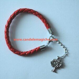 bracciale con ciondolo amuleto a forma di albero