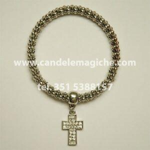 braccialetto con croce portafortuna