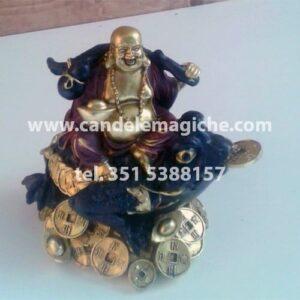 statuina del buddha su rospo dell'abbondanza
