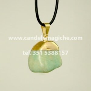 ciondolo con pietra acquamarina per il segno zodiacale dei pesci