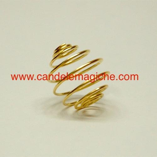 mollaa spirale di colore oro da utilizzare come porta pietre