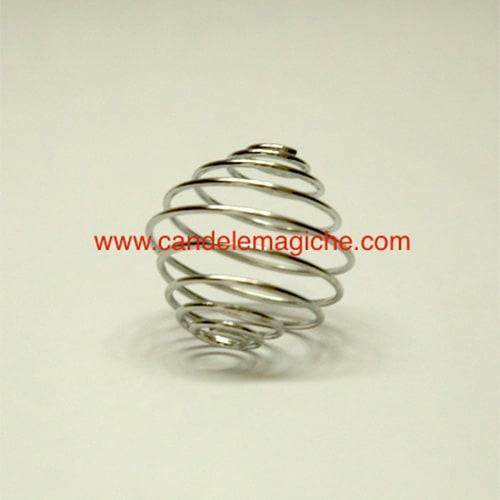 molla spirale porta pietre di colore argentato