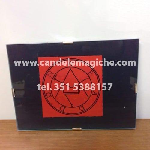 quadro del demone abaddon da utilizzare come talismano portafortuna