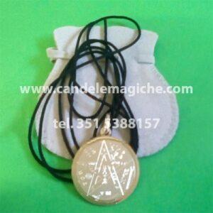 sigillo tetragrammaton di salomone in argento con cordoncino