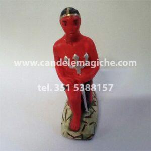 statua di exu rey in gesso per altari