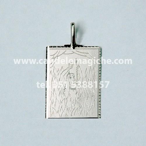 medaglia in argento dei poteri dell'anima sola