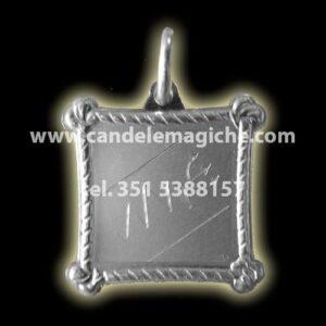 medaglia in argento detto talismano pomba gira pega homen