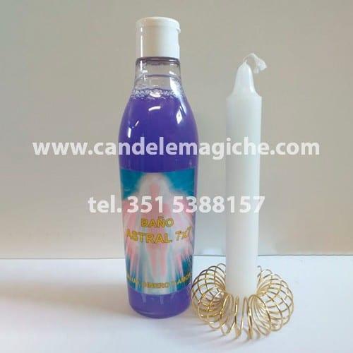 confezione bagno astrale sette poteri e candela