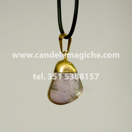 ciondolo portafortuna con pietra ametista per il segno zodiacale del sagittario