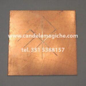 talismano runico in rame con quadrato magico di gar