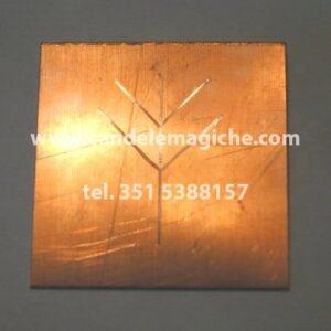 talismano runico in rame per avere guadagni economici
