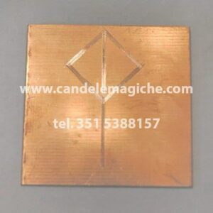 talismano runico in rame con runa portatrice di gioia