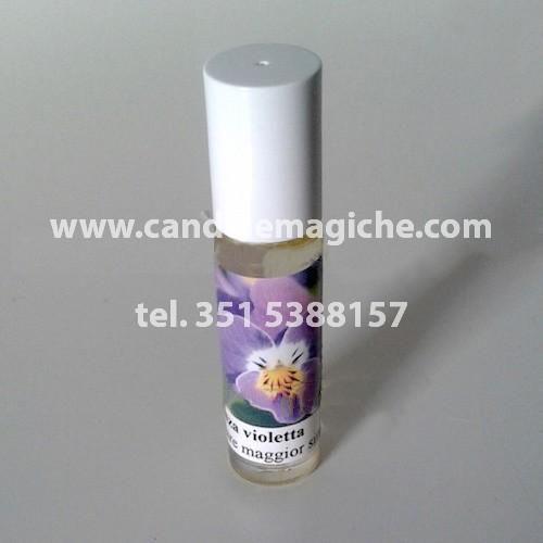 flaconcino di essenza di violetta