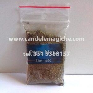 bustina di pepe nero in polvere consacrato