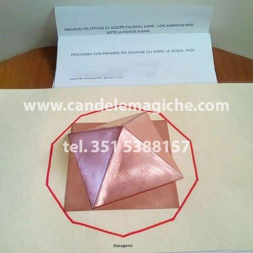 piramide di rame per la rigenerazione di talismani