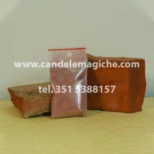 bustina di polvere di mattone rosso