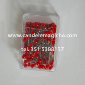 confezione di spilli con capocchia rossa