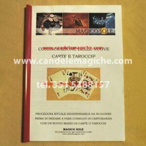 libro per la consacrazione delle nuove carte e tarocchi