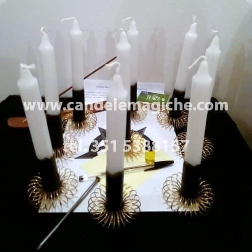 kit di candele e accessori per il rito di san cipriano
