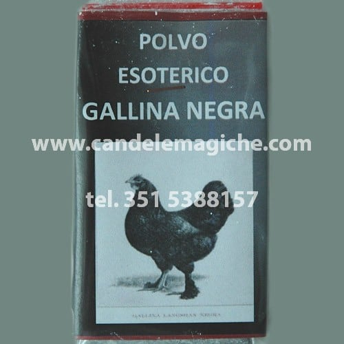 bustina di polvere esoterica gallina negra